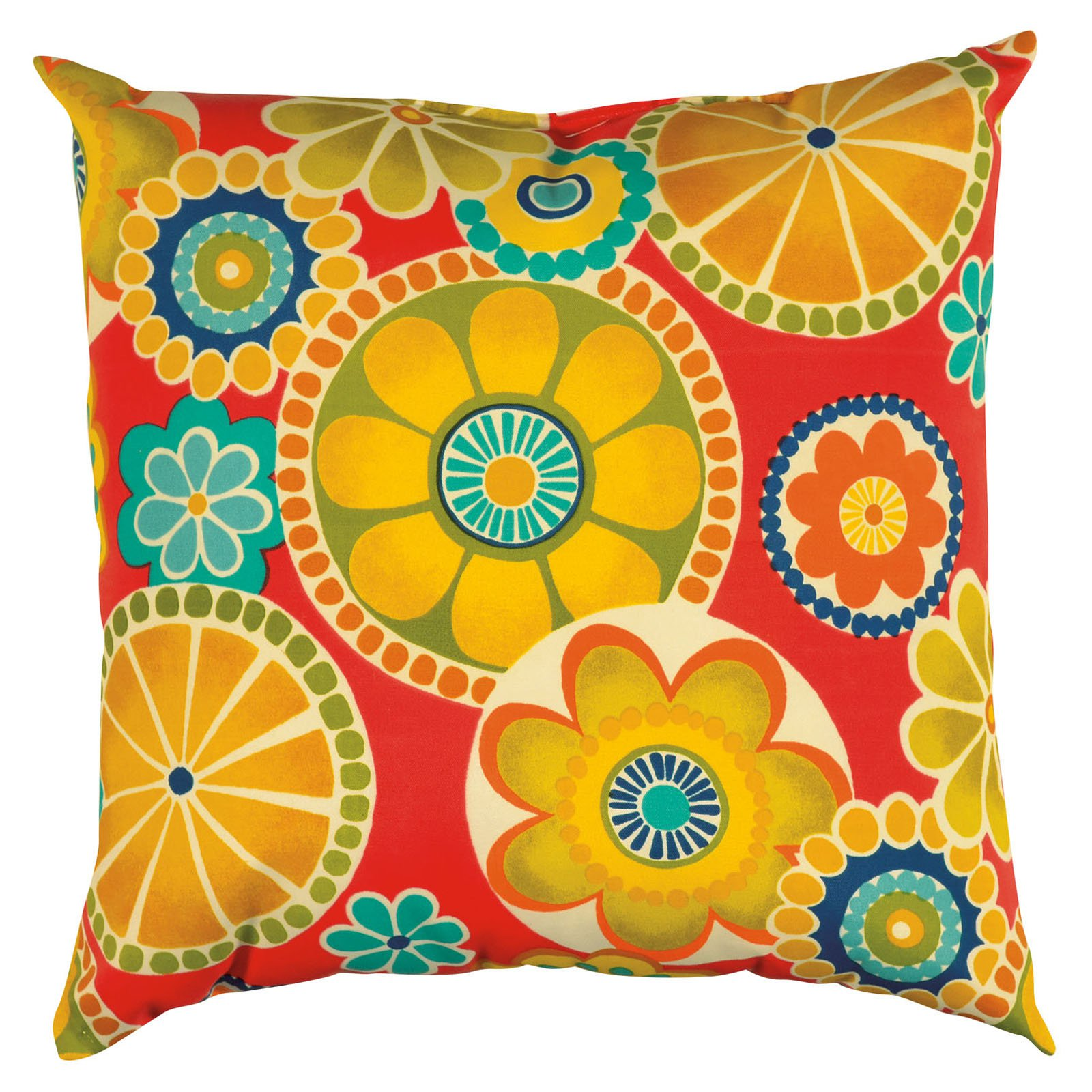 "Rizzy Home TFV015 22"" x 22"" Decorative Outdoor Pillow and Polyester Filler"