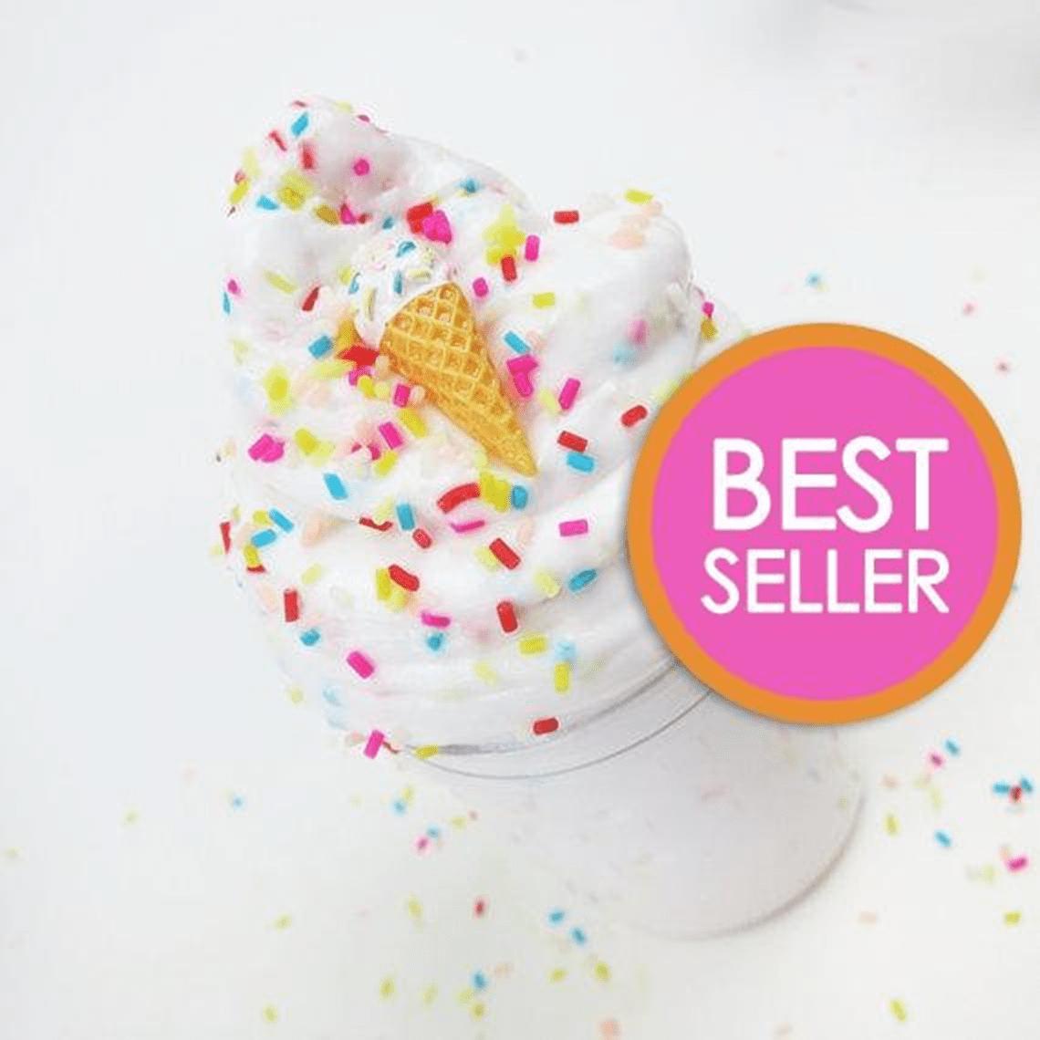 Ice Cream Birthday Cake With Sprinkles & Charm