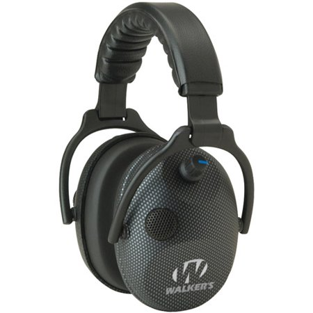Walkers Game Ear Gwp Amcarb Alpha Power Muff Carbon Graphite Headphones With Microphone