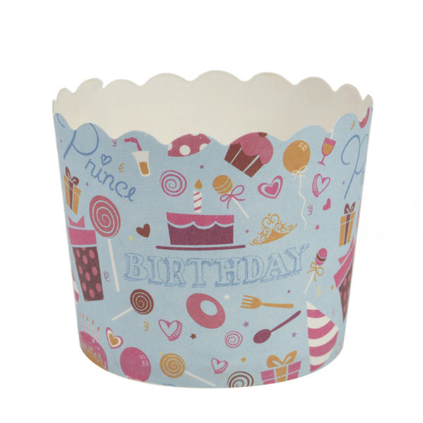 Simcha Collection Blue Birthday Cupcake Wrappers Small/Case of 480