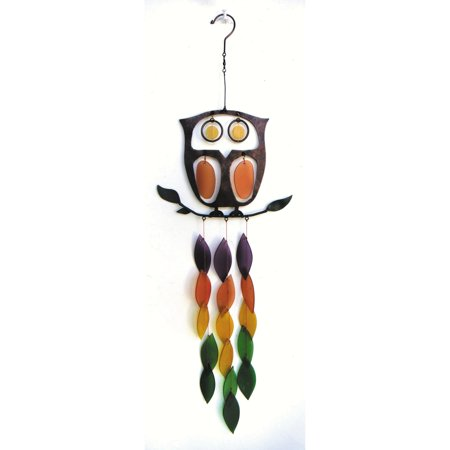 Gift Essentials Retro Owl Wind Chime](Owl Wind Chimes)