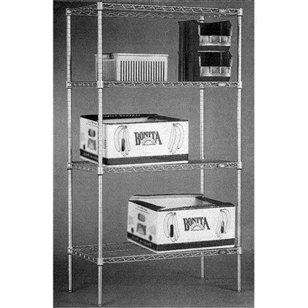 Nexel Industries 24486C 24 x 48 x 63 in. Plate Starter Shelf Unit, Chrome - image 1 of 1