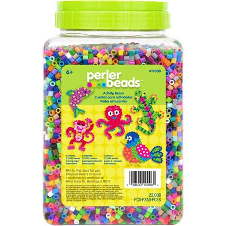 Perler Bead Jar - Assorted Colors - 22,000 Pieces - Halloween Perler Beads
