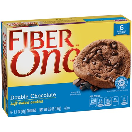 Fiber One Double Chocolate Soft Baked Cookies 6 Ct Box