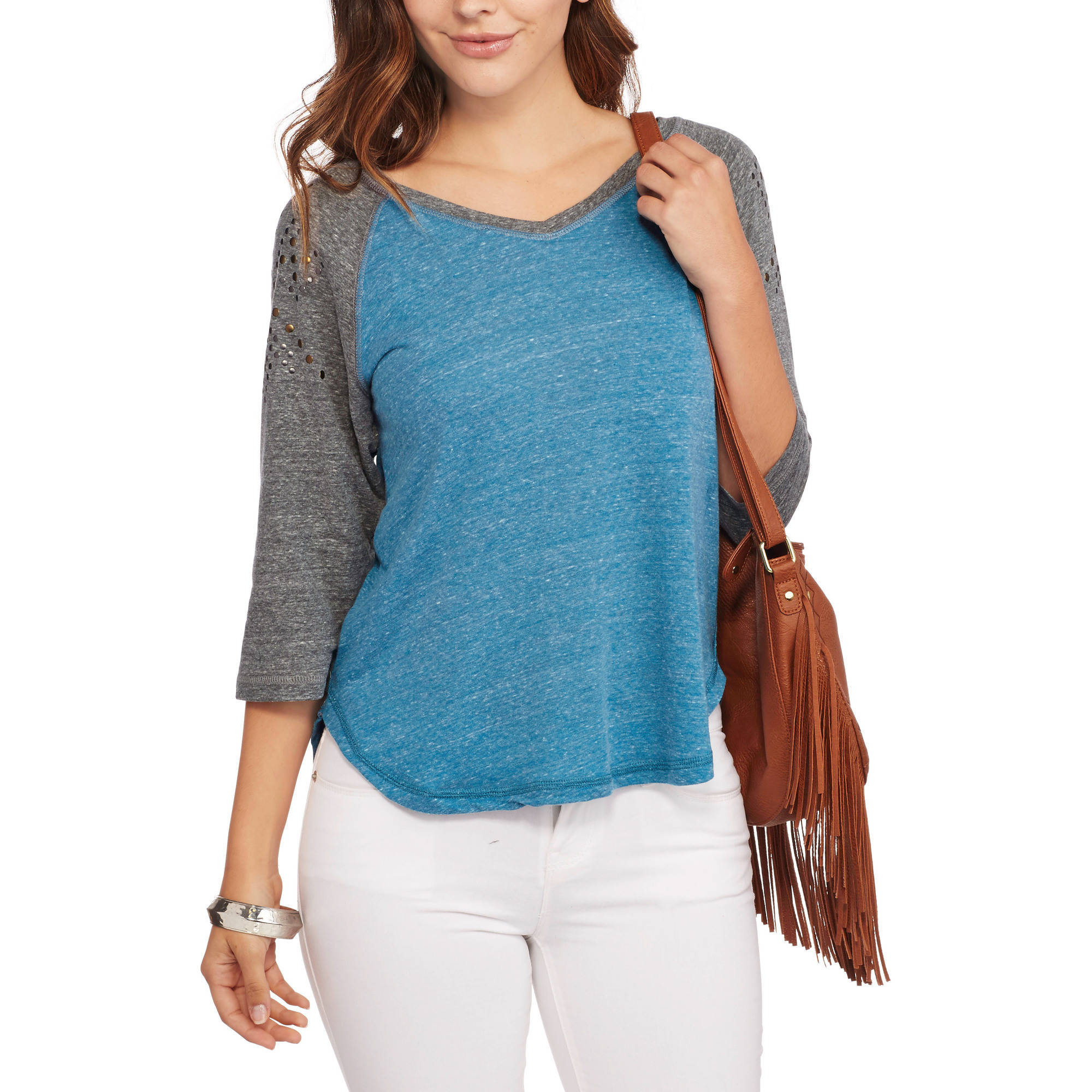 French Laundry Women's Embellished Baseball Tee