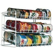 Atlantic Canrack Kitchen Organizer, 3 Tiers, White