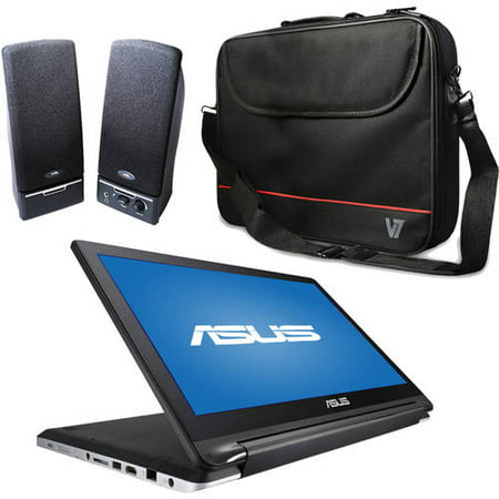 ASUS Black 15.6; TP550LA-RHI5T01 2-in-1 Laptop PC with Intel Core i5-4210U Processor Bundle (Choice of Case or Speaker System)