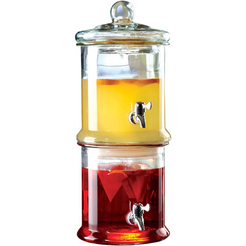 Norfolk 2-Gallon Glass Double Decker Beverage Dispenser