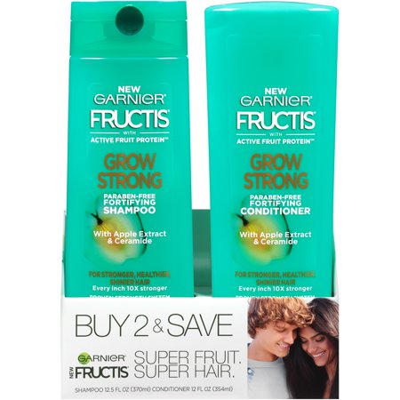Garnier Fructis Grow Strong Shampoo & Conditioner 2 ct