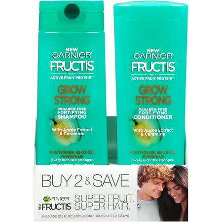 Garnier Fructis Grow Strong Shampoo & Conditioner 2 ct (Best Shampoo And Conditioner To Grow Long Hair)