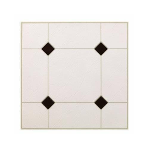 Kd0309 Black White Peel Stick Vinyl Floor Tile 12 X 12 In Walmart Com Walmart Com
