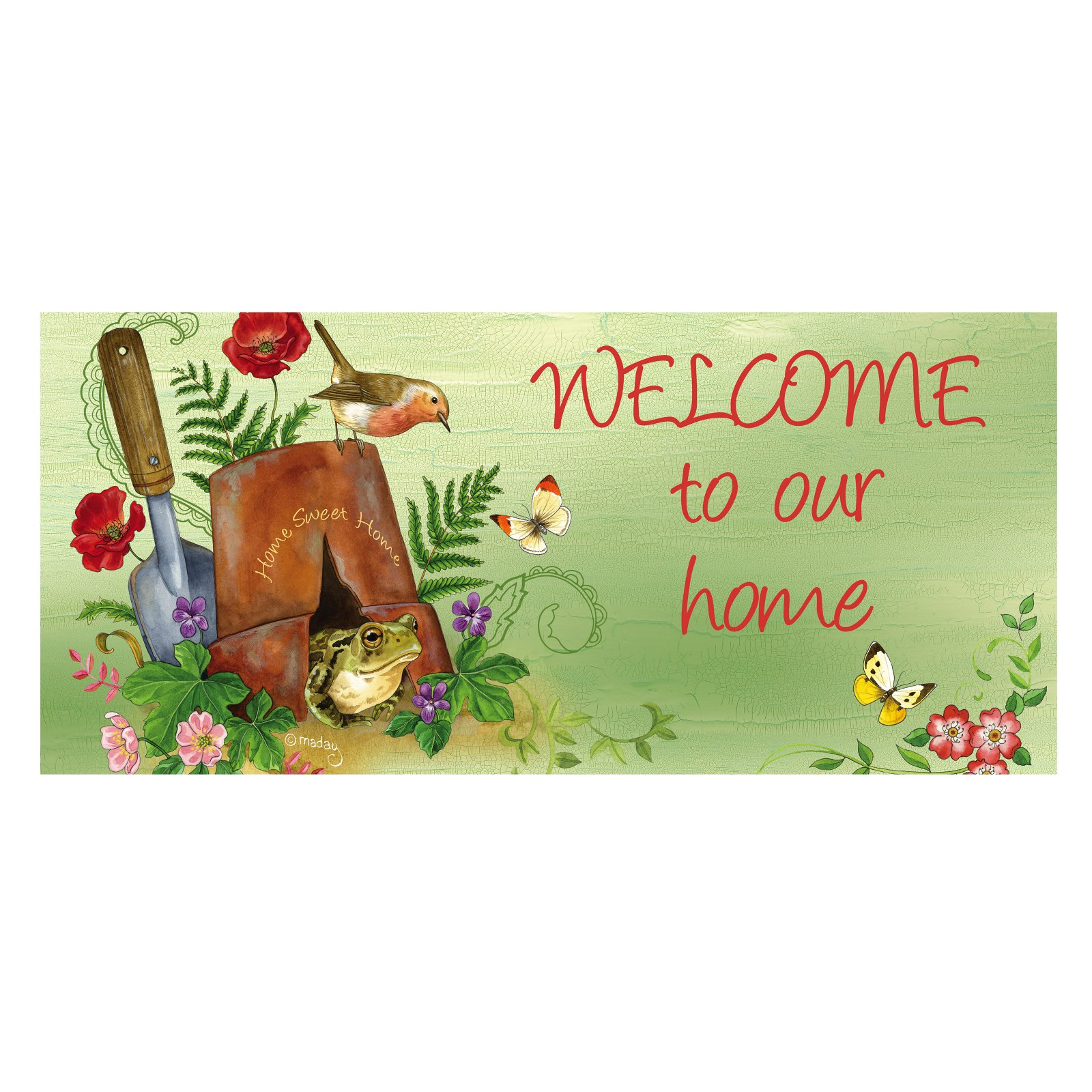 Evergreen Flag Welcome to Our Home Switch Mat Insert