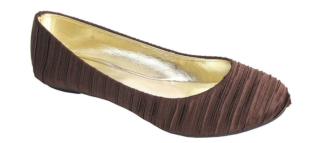 Nomad Women's SATIN Ballet Brown Fashion Flats 8 M by