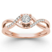 imperial 120ct tdw diamond 10k rose gold criss cross engagement ring - Wedding Rings From Walmart
