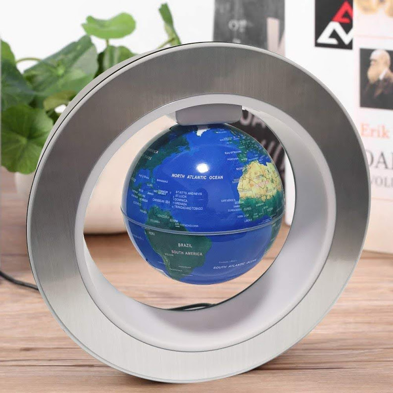 Levitation Floating Globe 4inch Rotating Magnetic Mysteriously Suspended in Air World Map Home Decoration Crafts Fashion