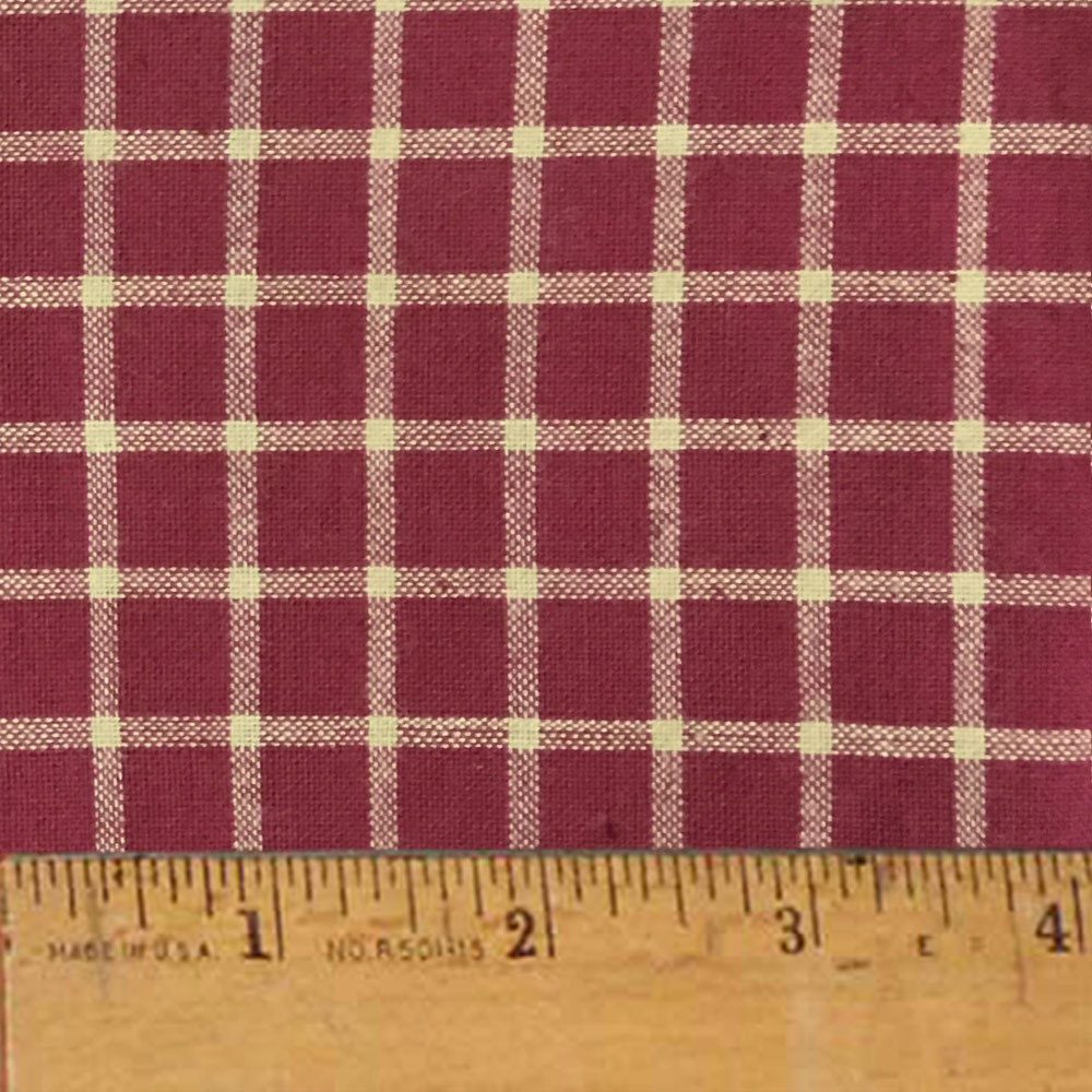 Rustic Red 7 Plaid Homespun Cotton Fabric Sold by the Yard - JCS Fabric