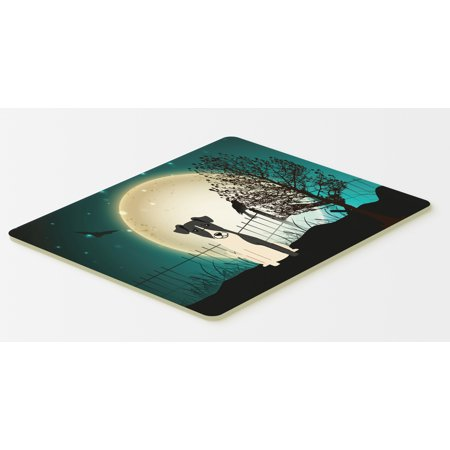 Halloween Scary Smooth Fox Terrier Kitchen or Bath Mat 20x30 BB2288CMT - Bath Uni Halloween