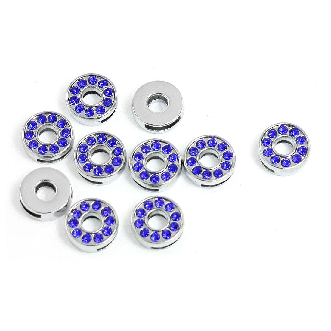 Unique Bargains 10 Pcs Pet Name Collar Wristband Blue Rhi...