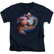 The Flash Fastest Man Little Boys Juvy Shirt Navy (4)