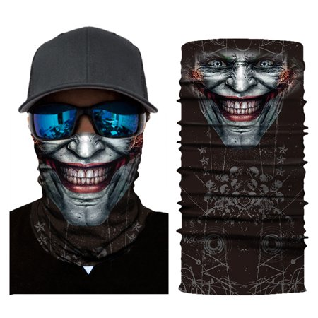 Balaclava Scarf (Cool Robot Mask Scarf Joker Headband Balaclavas for Cycling Fishing Ski Motorcycle AC392)