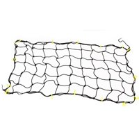 """36"""" x 43"""" Car Truck Suv Tie Down Cargo Net with 12 Neon Yellow Hooks"""