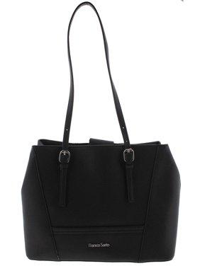 21978b8724 Product Image Franco Sarto Womens Charlie Faux Leather Signature Tote  Handbag Black Medium