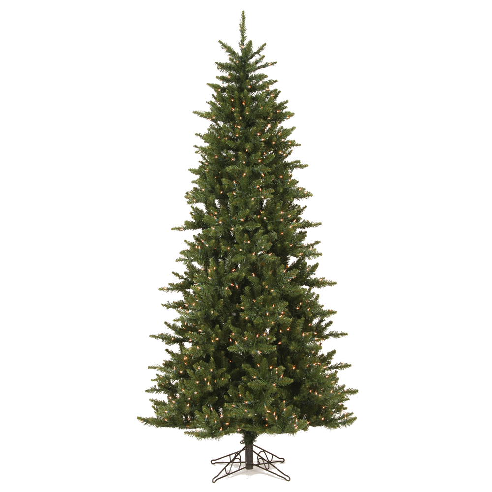 Vickerman Pre-Lit 8.5' Camdon Slim Artificial Christmas Tree, Dural-Lit, Clear Lights