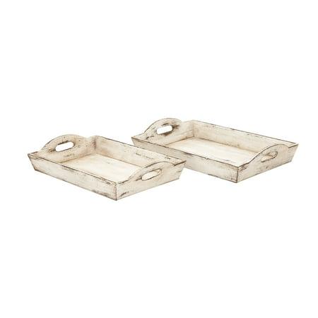 - Wood Tray Set Of 2
