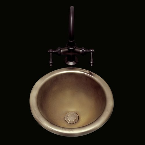 Undermount bathroom sink round Bathroom Faucets This Button Opens Dialog That Displays Additional Images For This Product With The Option To Zoom In Or Out Walmart Bates Bates Donna Ceramic Circular Undermount Bathroom Sink With