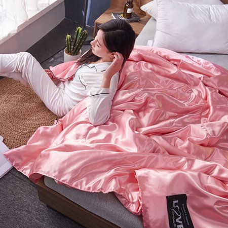 Rdeghly Washable Ice Silk Summer Air Conditioning Comfoter  Quilt Blanket for Children Adults ,Summer Quilt, Ice Silk Summer Quilt - image 4 of 8