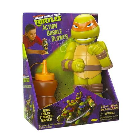 Little Kids Teenage Mutant Ninja Turtles Action Bubble Blower, Michelangelo](Kids Teenage Mutant Ninja Turtles)
