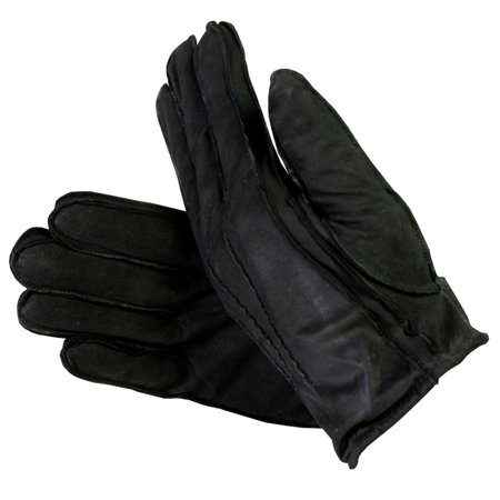 Medium Leather Glove - Men's Suede Leather Gloves with Thinsulate Lining Black Medium