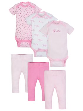 0d4c581a9 Product Image Wonder Nation Mix N Match Bodysuits & Pants Outfit Baby  Shower Gift Set, 6pc (