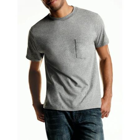 64338fad77 Men s Tagless ComfortSoft Dyed Crewneck 4-Pack Pocket T-Shirt ...