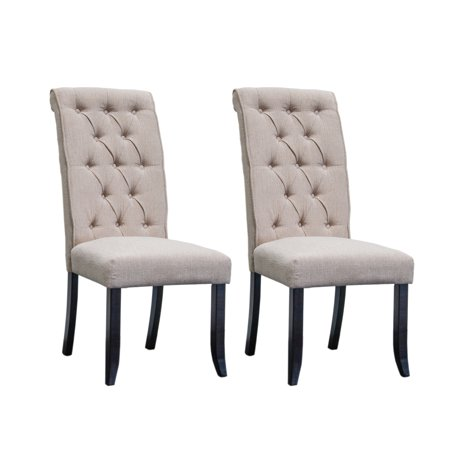 Best Master Furniture Manhattan Tufted Dining Chair, Beige, Set of (Best Reuben In Manhattan)