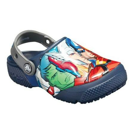 Crocs Boys' Junior Marvel Multi Fun Lab Clog (Ages 7+) ()