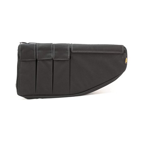 Short Barelled Rifle Case (26-Inch), Three covered pockets will hold six 9 mm/.40S&W/.45 ACP magazines or three single 20 or 30 round AR magazines By US PeaceKeeper