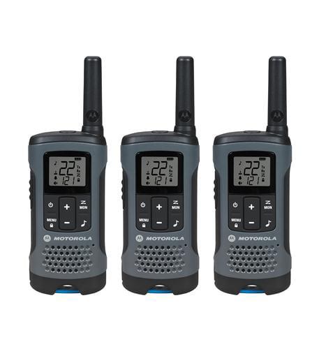 3 Pack FRS 20 Mile Range Gray Radios