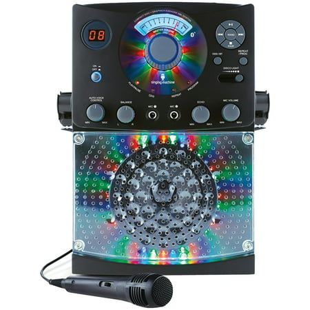 The Singing Machine SML385BTBK Bluetooth CD+G Karaoke System
