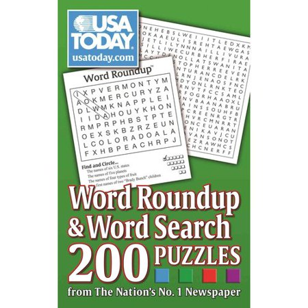 Usa Today Word Roundup   Word Search  200 Puzzles From The Nations No  1 Newspaper