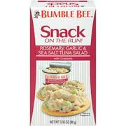 Bumble Bee Snack On The Run! Rosemary, Garlic & Sea Salt Tuna with Crackers, 3.5 oz Tuna Snack Kit, Good Source of Protein