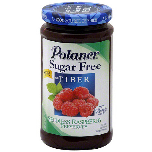 Polaner Sugar Free Raspberry Preserves, 13.5 oz (Pack of 12)