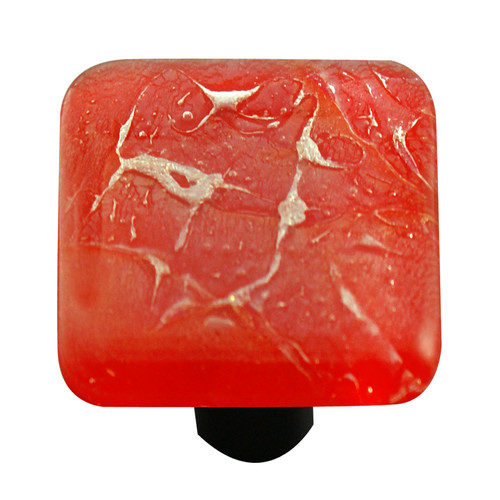 Aquila Art Glass Metallic Square Knob