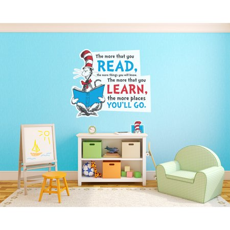 Halloween Dr. Seuss Quotes (Dr. Seuss Cat in the Hat Inspirational Quote Giant Wall)