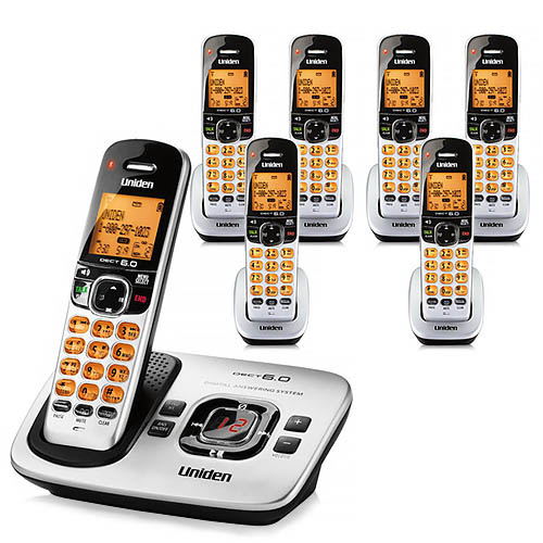 Uniden D1780-7 Cordless Phone w  6 Additional Handsets & Backlit LCD Display by Uniden