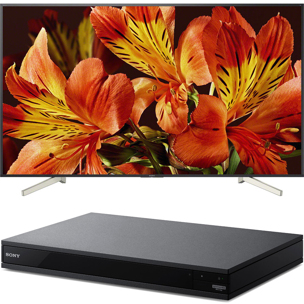 Sony 85-Inch 4K Ultra HD Smart LED TV 2018 Model (XBR85X850F) with Sony 4K Ultra HD Smart Blu-Ray Player with Hi Res 2017 Model