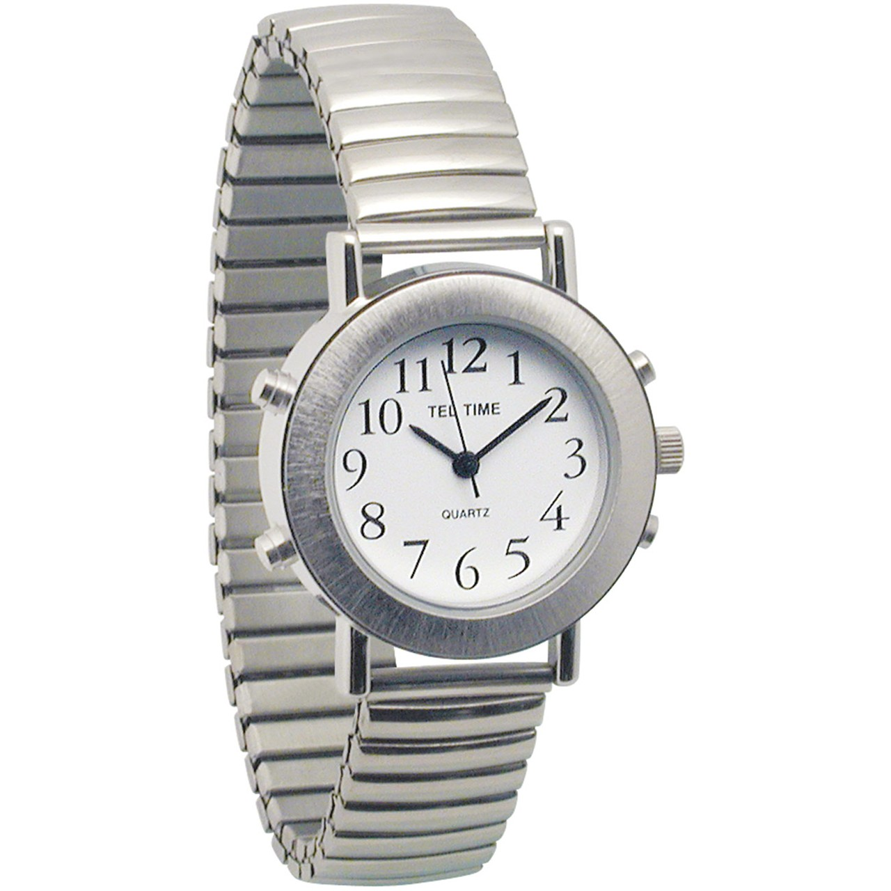 Maxiaids Ladies Tel-Time Chrome Talking Watch with White ...