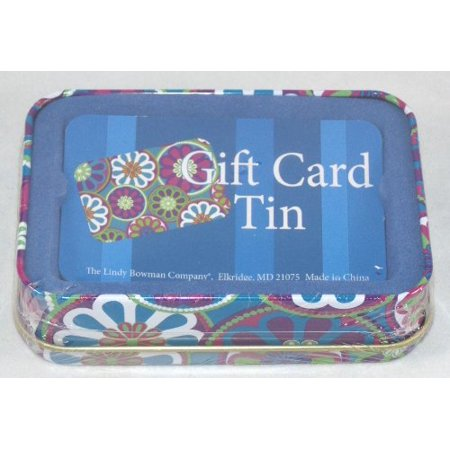 Tin Gift Card Holder Box (Flowers)