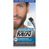Just For Men Brush-In Color Mustache & Beard - Medium-Dark Brown