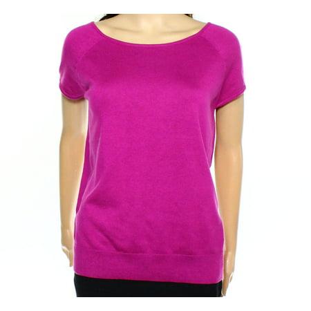Lauren Ralph Lauren NEW Purple Women's Size XL Boat Neck Knit Top Open Knit Boat Neck